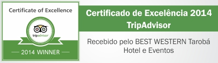 TripAdvisor Certificate of Excellence 2013 Received by BEST WESTERN Hotel Tarob�