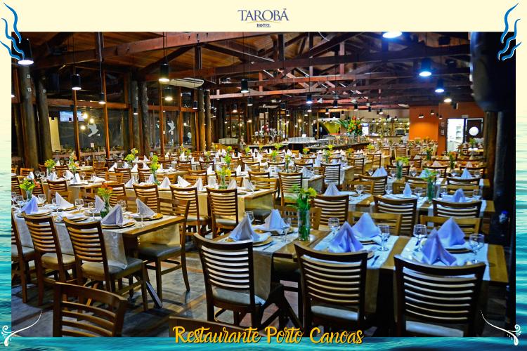 Restaurante Porto Canoas - Cadeiras e mesas preparadas