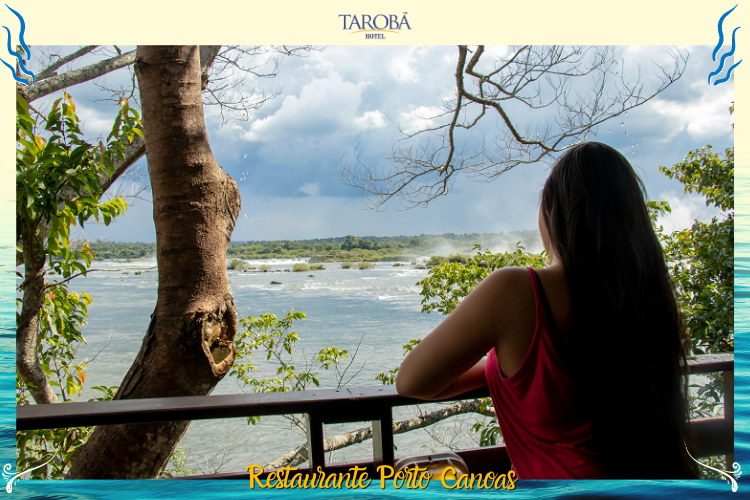 Restaurante Porto Canoas - Visitante admirando a vista