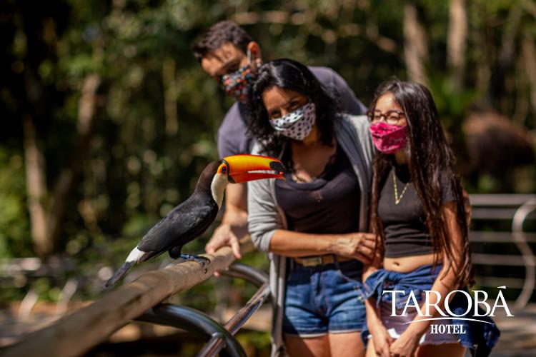 Família no Parque das Aves. Parque das Aves ganha grande aliado na conservação de espécies da Mata Atlântica!