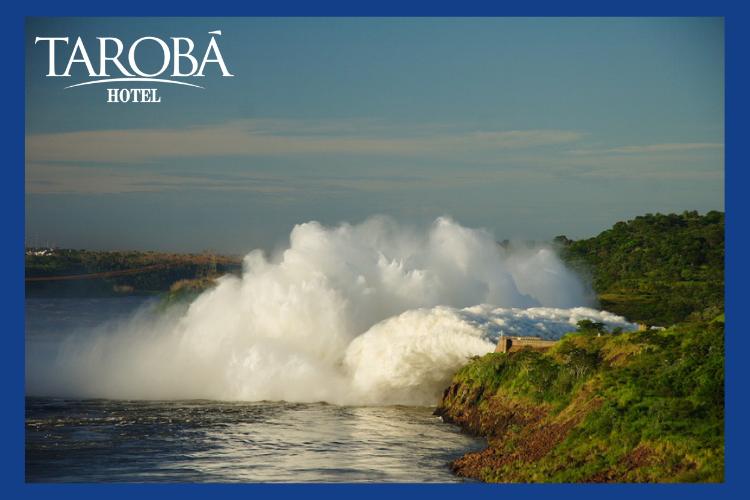Água em grande quantidade na Itaipu. Você conhece a Usina Hidrelétrica Itaipu de Foz do Iguaçu?