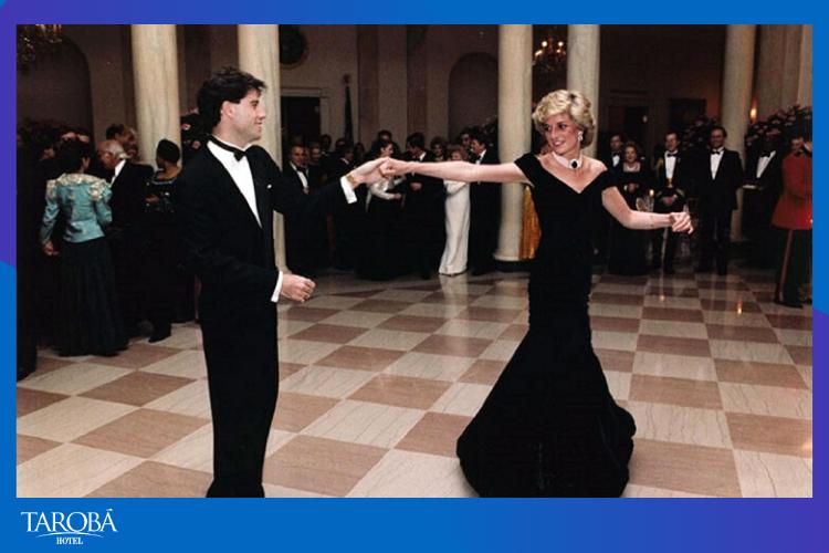 John Travolta e Princesa Diana dançando