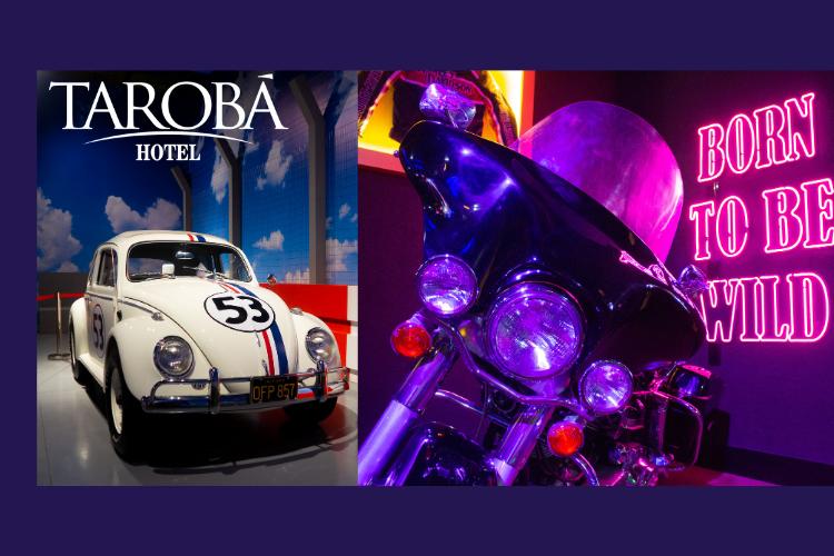 Exposição de carro e moto no Dreams Motor Show.