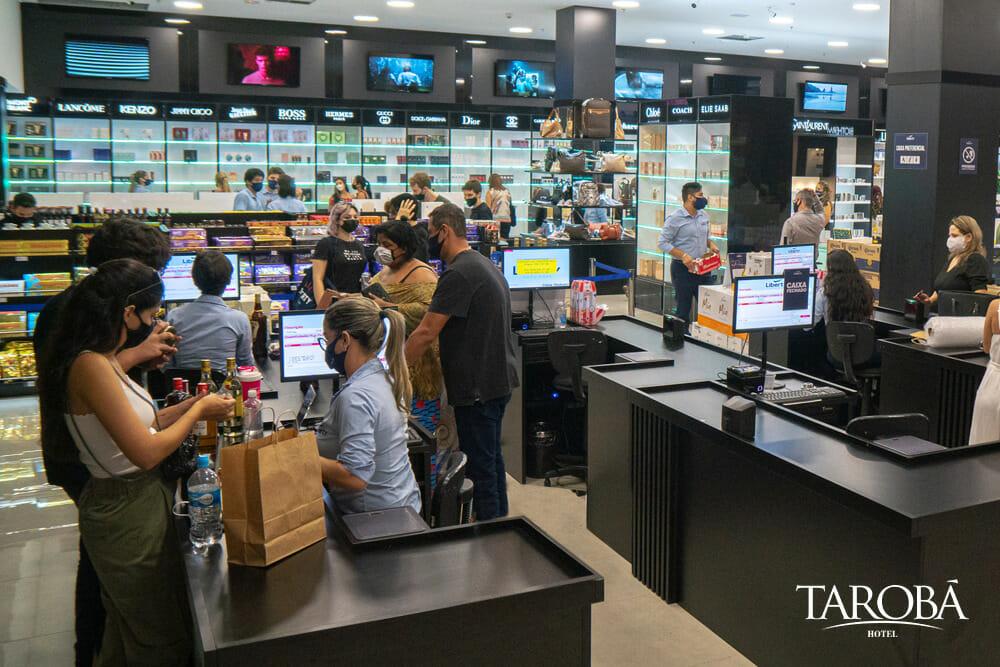 Espaço interno do Liberty Duty Free, a melhor opção de compras em Foz do Iguaçu