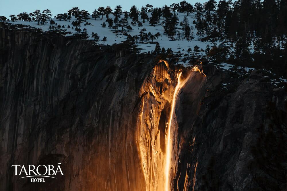 Yosemite Falls, as cataratas de fogo
